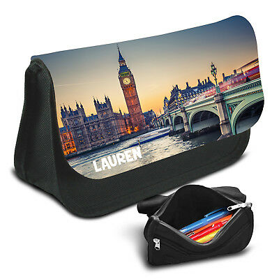 London Personalised Pencil Case Game School Bag Kids Stationary - 02