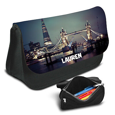 London Personalised Pencil Case Game School Bag Kids Stationary - 24
