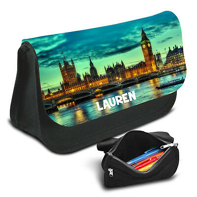 London Personalised Pencil Case Game School Bag Kids Stationary - 25