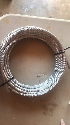 "T-304 Grade 7 x 19 Stainless Steel Cable Wire Rope 3/16""- 100 ft"