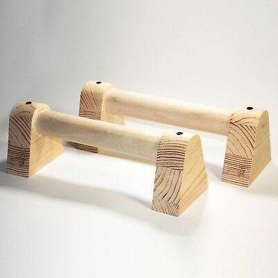 mini Wooden Parallettes bars Natural for yoga gymnastics calisthenics & fitness