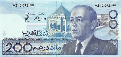 Morocco  200  Dirhams  1407/1987  P 66  Uncirculated Banknote