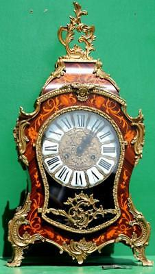 Large Italian Boulle Type Rococo 8 Day Mantle Clock