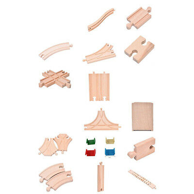 Uk_ Wooden Train Track Connectors Adapters Expansion Railway Accessories Kids To
