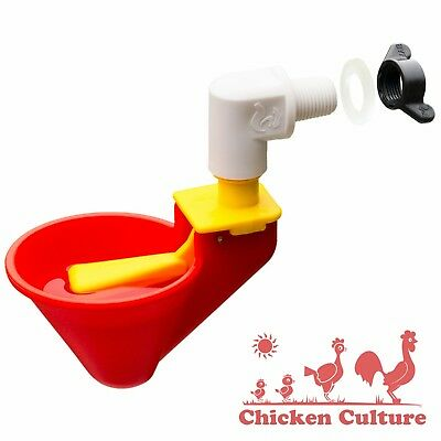 Poultry Drinkers, Water Drinking Cups, Mounting Nuts for Chicken Bucket Waterer