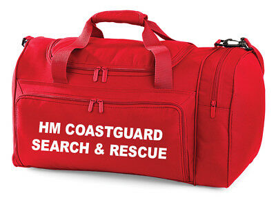 HM COASTGUARD SEARCH & RESCUE Carry Kit Bag Printed Emergency Search RNLI Boat