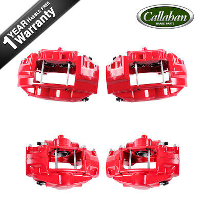 Front + Rear Red Powder Coated Brake Calipers For FX50 G37 G37X Q50 350Z 370Z