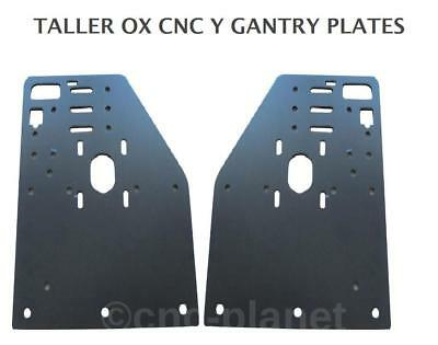 OX CNC EXTRA Z CLEARANCE TALLER Y AXIS GANTRY PLATES ONLY  (pair of 2 plates)