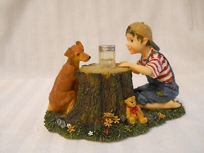 Boyd Bear Yesterday's Child Figurine Tommy and Scout  Lightening Bug Fun 35011