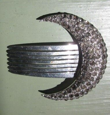 Decorative Accessory Hair Comb Crescent Moon Cosmic Celestial Astrological
