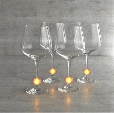 Pier 1 imports Fall Halloween Set of 4 Clip-On LED Wine Drink Charms