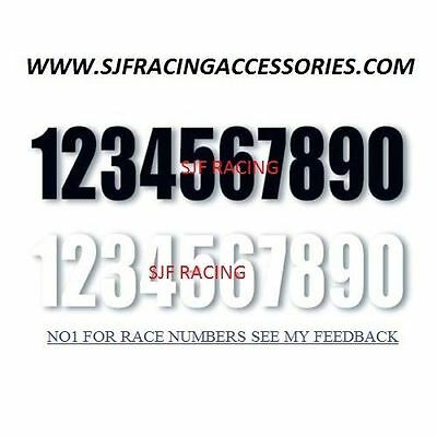 Motorcycle Bike Motocross MX Enduro Quad Trials Kart Race Number Sticker Decal,,