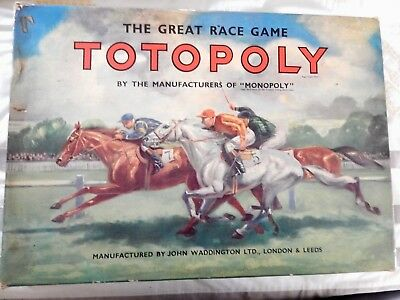 Vintage Totopoly Horse Racing Board Game by Waddingtons