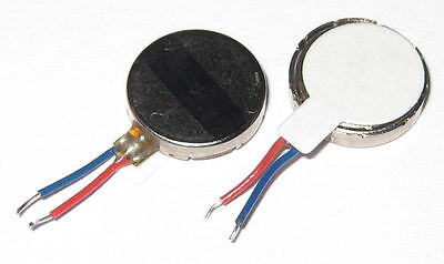 2 X Micro Vibrator Flat Motor - 3 VDC - 10 mm Dia - 2 mm Thick- For Cellphones