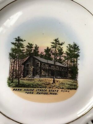 1900s Souvenir China Plate House Itasca State Park Rapids Minnesota MN Germany