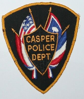 CASPER POLICE DEPT Wyoming WY PD Used Worn patch