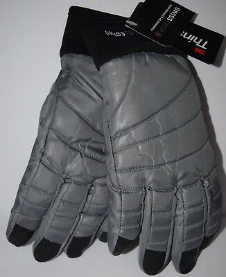 Swiss Tech Snow Ski Gloves 3M Thinsulate Boys Gray Winter Waterproof Size L-XL