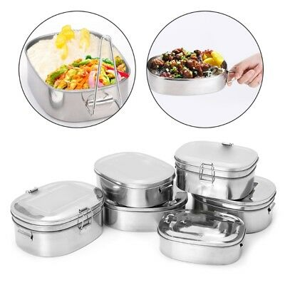 Single / Double layer Stainless Steel Picnic Lunch Box Case Bento Food Container
