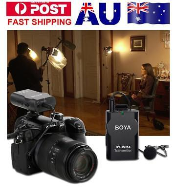 BOYA BY-WM4 Wireless Lavalier Lapel Microphone for iPhone Samsung DSLR Came AU