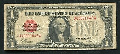 Fr. 1500 1928 $1 One Dollar Red Seal Legal Tender United States Note (B)