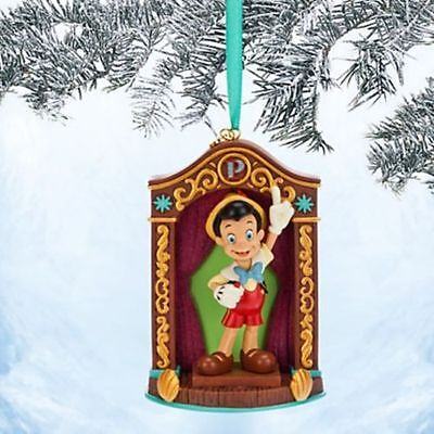 disney store 2014 sketchbook pinocchio christmas ornament New In Box