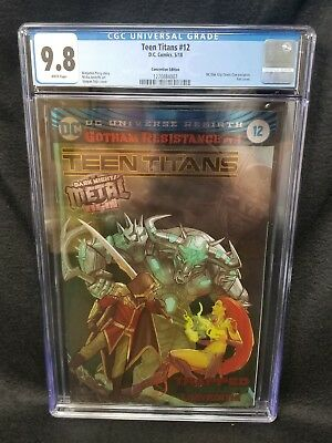 Teen Titans #12 CGC 9.8 NC Oak City Comic Con Foil Exclusie Batman Who Laughs