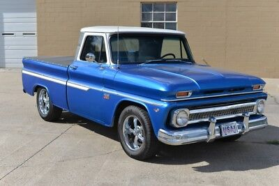 1966 Chevrolet C-10 -- 350 V8, auto, PS, PB, cold AC, tilt, power windows, solid body runs excellent!