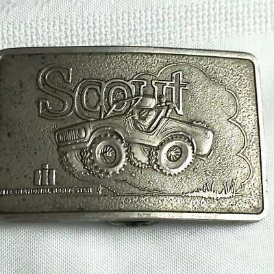 Vintage Scout International Harvester Spec-Cast Rockford, IL Men's Belt Buckle