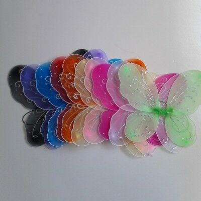 13 Colors Princess Kids Girls Fairy Butterfly Wings Fancy Dress Party Costume