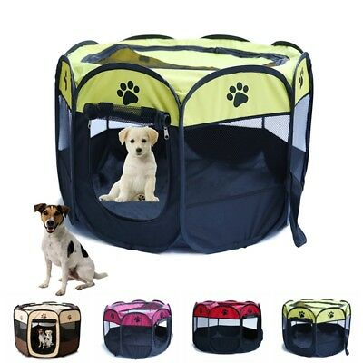 8 Panel Portable Puppy Dog Pet Cat Playpen Crate Cage Kennel Tent Play Pen Bags