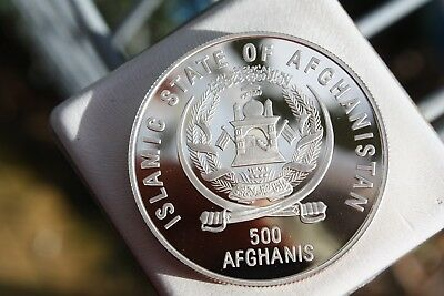 Afghanistan 1995 500 afghani silver proof coin - KM#1031