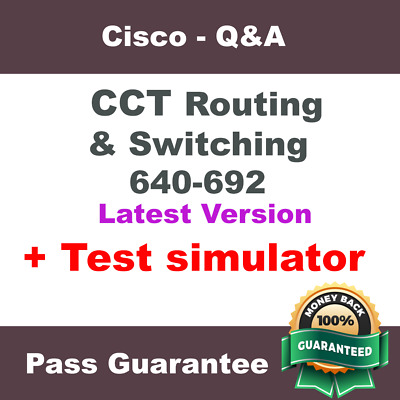 Cisco CCT Routing & Switching RSTECH Exam Dump for 640-692 Q&A (2018 Verified)