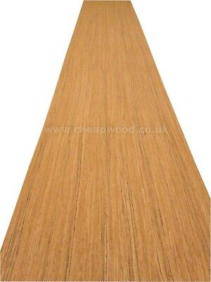 "Teak Veneer Sheet  2500mm x 630mm  /  98,4"" x 24,8""  Flexible Wood Veneer"
