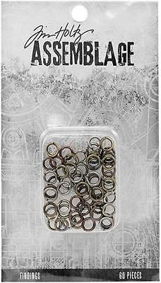 Tim Holtz Assemblage Findings ~ JUMP RINGS ~ 60 pack MIXED MEDIA