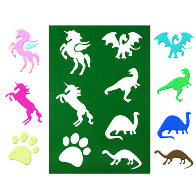 horse dinosaur layering stencils spray template wall drawing paper card decor QE