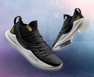 edce409ed9b Under Armour Stephen Curry 5 V Black Gold MVP Championship Size 11.  3020657-001