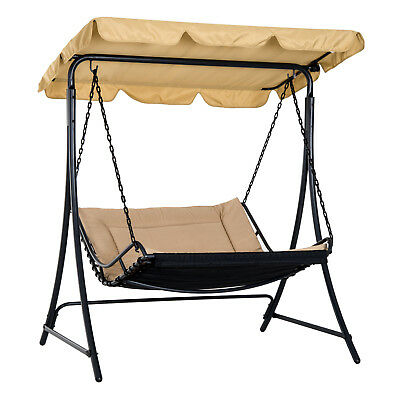 Summer Clearance 2 Seater Canopy Swing Chair Hammock Cushioned Seat