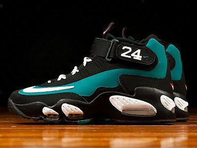 0317b6de8d NEW NIKE AIR Ken Griffey Max 1 Patent Black Retro Gemma Blue Jordan ...