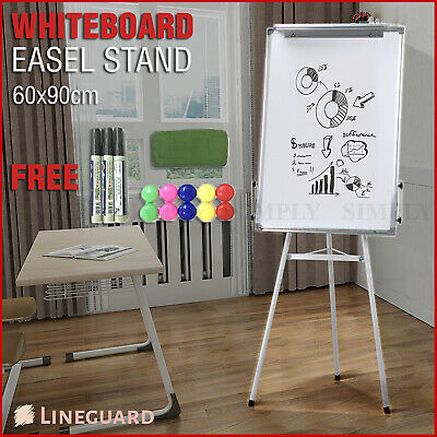 Whiteboard Portable Stand Easel Tripod Magnetic Display Telescopic Flipchart 60