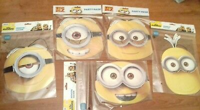 30X Minions Movie Face Masks Kids Party Fancy Dress Despicable Me Bundle On £25