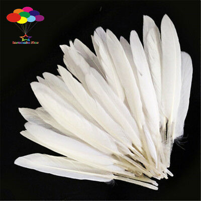 DIY Natural Goose Feather White 4-6 Inch /10-15Cm 100 Pcs Carnival Headress Mask