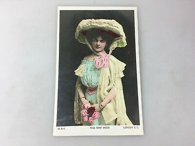 Vintage - Postcard - Miss Nina Wood - Colour - Not Used Made In London