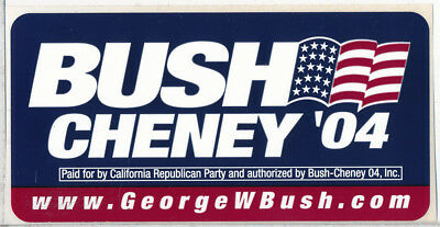 Bush Cheney '04 Presidential Campaign Sticker, 2004