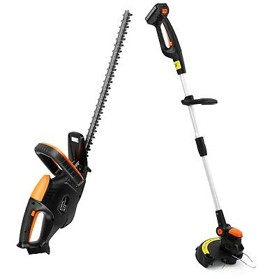 VonHaus 18v Cordless Grass and Hedge Trimmer Bundle - Includes One Battery