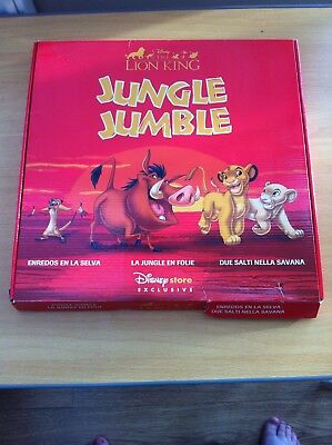 The Lion King Jungle Jumble game,  Disney store exclusive