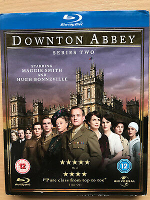 Maggie Smith Downton Abbey Temporada 2 Británico Drama Series Gb Blu-Ray con /