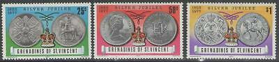 Grenadines Of St.vincent Sg93/5 1977 Silver Jubilee Mnh