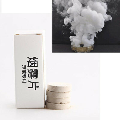 UK_ 10Pcs Smoke Cake White Smoke Effect Show Round Bomb Photography Aid Toy Tast