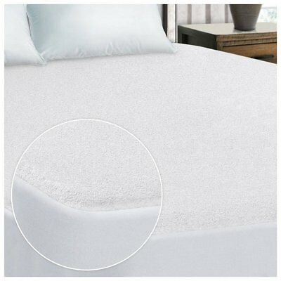 hypoallerg Mattress Cover Waterproof Terry Towel Extra Deep Fitted Sheet Bed