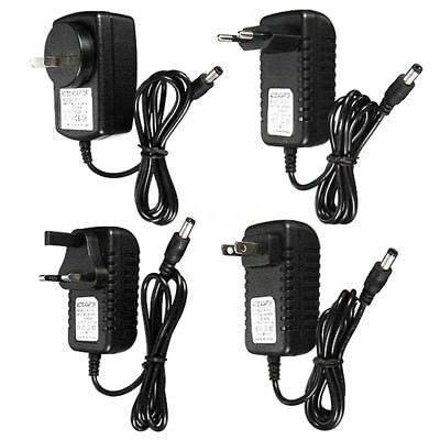 Uk_ Dc/ac 12V 1A 2A Power Supply Charger Adapter For Led Light Strip Camera Cctv